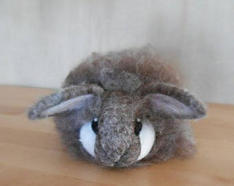 Baby Rabbit, Needle Felted Bunny, Soft Sculpture for Easter Centerpiece