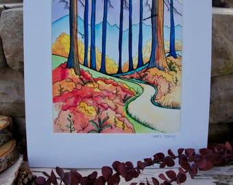Happy Trails // Giclee Print on Fine Art Archival Paper // 8x10 matted to 11x14