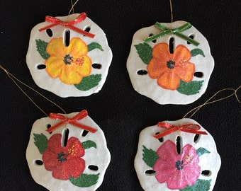 Hand painted Shell Ornaments