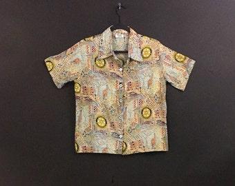 Button Up Aloha Havana Shirt