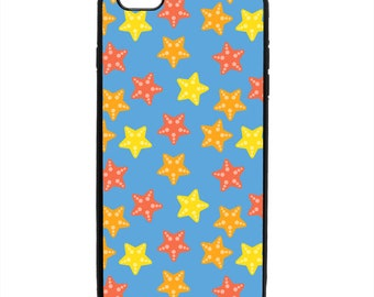 Starfish Print Phone Case Samsung Galaxy S5 S6 S7 S8 S9 Note Edge iPhone 4 4S 5 5S 5C 6 6S 7 7S 8 8S X SE Plus