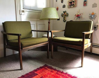 American made danish style mid century modern chairs