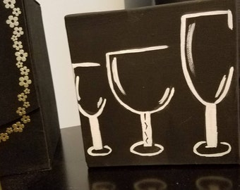 Three Wine Glass Painting