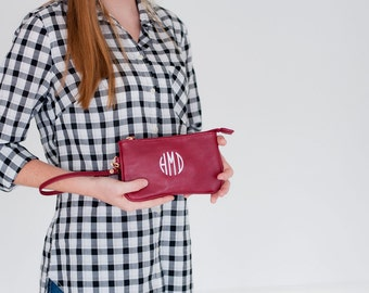 Monogram Wristlet, mini Wristlet, Wristlet Purse, monogrammed gift, gift for her, gift for girls, womens gift