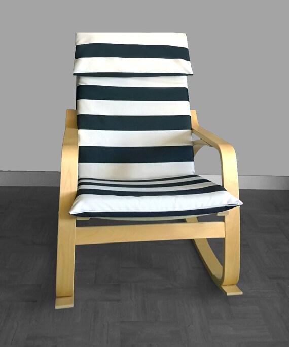 Black White Stripe Ikea Po 196 Ng Cushion Slipcover