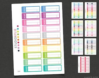 Order Due Planner Stickers - Repositionable Matte Vinyl