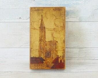 Pyrographed box, wood pyrography, lidded box, vintage wooden box, wood keepsake box, memory box, vintage, wood treasure box, wooden box