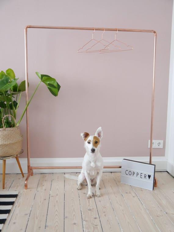 kupfer kleiderst nder kleiderstange copper industriedesign. Black Bedroom Furniture Sets. Home Design Ideas