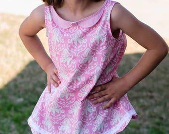Huge Sale ... Girls A-Line Dress and Tunic PDF Pattern ... Jane's Plain Dress & Tunic Top