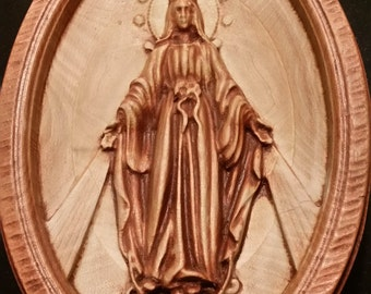 Original Carved Wooden of the Miraculous Medal