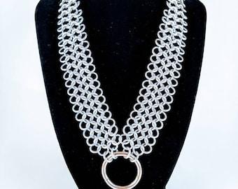 European 4-1 Aluminum/Stainless Steel Chainmaille Choker/Collar