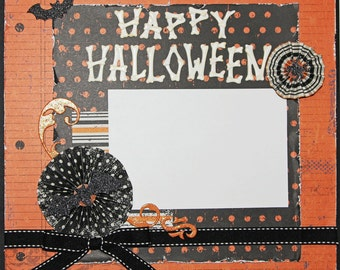"Premade Scrapbook Page 12 x 12 ""Happy Halloween"""