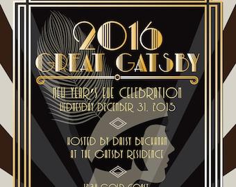 Great Gatsby Invitation birthday invitation party