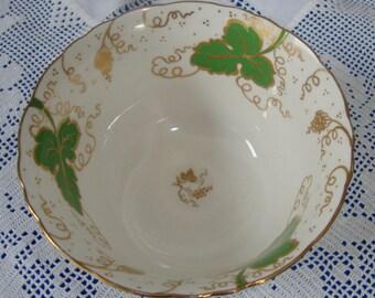Superb VINTAGE Hand Painted Victorian Sugar Bowl