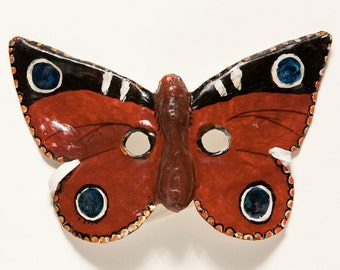 Pappmaché Schmetterling Maske