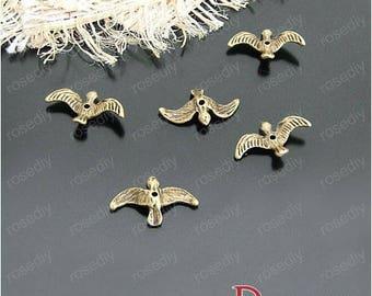 20 bronze 17 * 10mm D21096 swallow charm