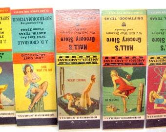 1942 Gil Elvgren Girlie Pinup Pin Up Matchcover Set Girlies