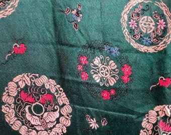 Chinese brocade  silk textile 52 inches by 64      tex4