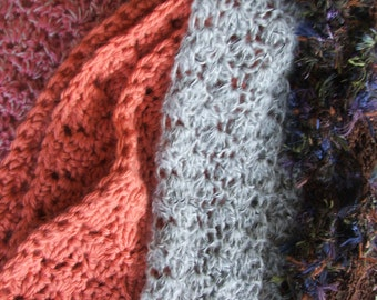 CROCHET PATTERN - Crocheted Scarf Stitch pattern - Instant Download of Easy scarf or blanket pattern, Super Fast to Make for Gifts