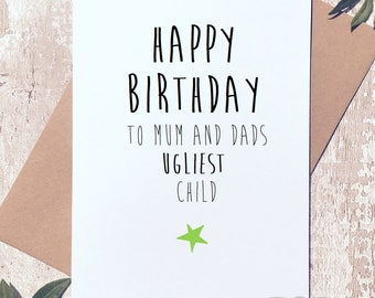 Funny birthday card, birthday card for her, funny Card for sister, birthday card funny, birthday card for him, birthday card for brother