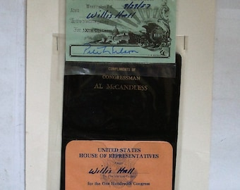 This memorial card set RECEIVED AT A visit to the 100th U.S. congress which took place in 1987. see description