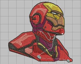 Ironman embroidered Padding