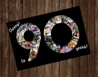 Number Birthday Photo Collage