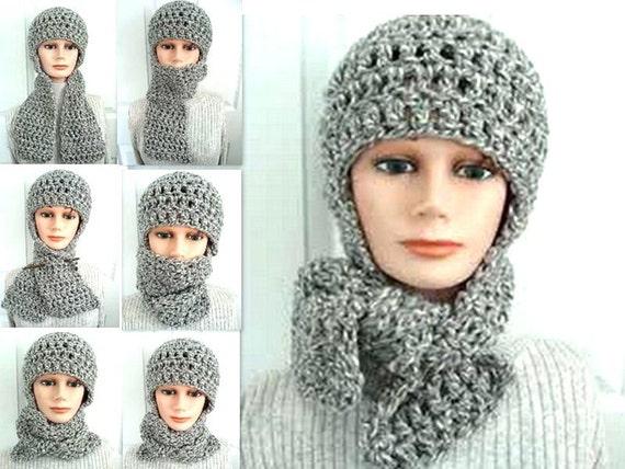 CROCHET hat PATTERN Hat & scarf hat crochet pattern Hood