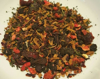 Love is... - Organic Tea, Loose Leaf Tea, Berry Tea, Strawberry, Nettle, Cinnamon, Hibiscus, Cranberry, Schisandra, Rosehips, Herbal Tea