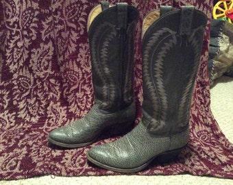 Mens 9 Vintage Justin Cowboy Western boots