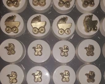 Ivory and gold baby oreos