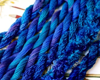 Silk  Embroidery Thread for Needlework, Embroidery, Stumpwork hand dyed in Royale