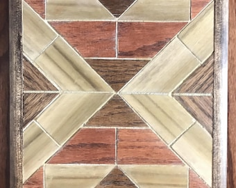 Wood Mosaic Wall Art or Trivet