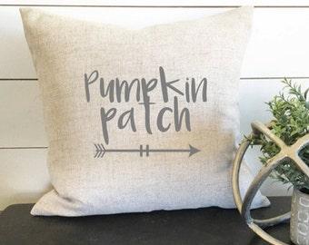 Pumpkin Patch Pillow, Autumn Pillow, Fall Pillow, Fall Decor, 18 x18 pillow, 18 x 18 Linen Pillow, Gift, Wedding Gift, Wedding, Autumn Decor