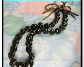 Native Treasure - Brown Kukui Nut Necklace