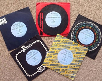 Music themed wedding invitation records vinyls