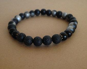 Lava Bracelet, Husband Gift, Boyfriend Gift, Bracelet, Gifts for Men, Best Man Gift, Men's Diffuser  Bracelet, Aromatherapy Bracelet
