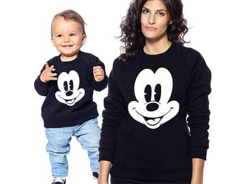 Mommy And Me Outfit, Mommy And Me Black Shirt, Mothers Day Gift, Daughter And Mother Top, Gift For Mother, Womens Sweatshirt, Gift For Her