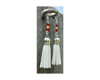 Kansas City Chiefs Inspired Tassel Earrings