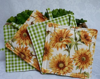 Garden Sunflower Pot Holders