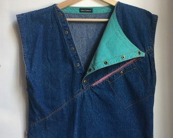 Denim vintage sleeveless top