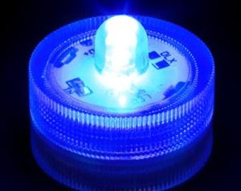 10 BLUE Waterproof Wedding Underwater Battery Sub LED Lights