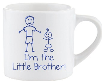 Little Brother Mug Kids Smug Im The Gift Idea Childrens New Baby Present Birthday