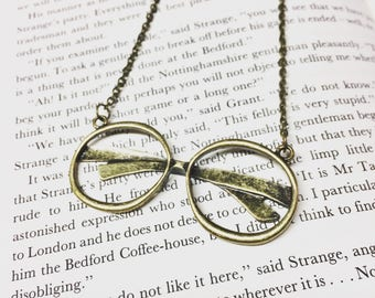 Brass Glasses Necklace