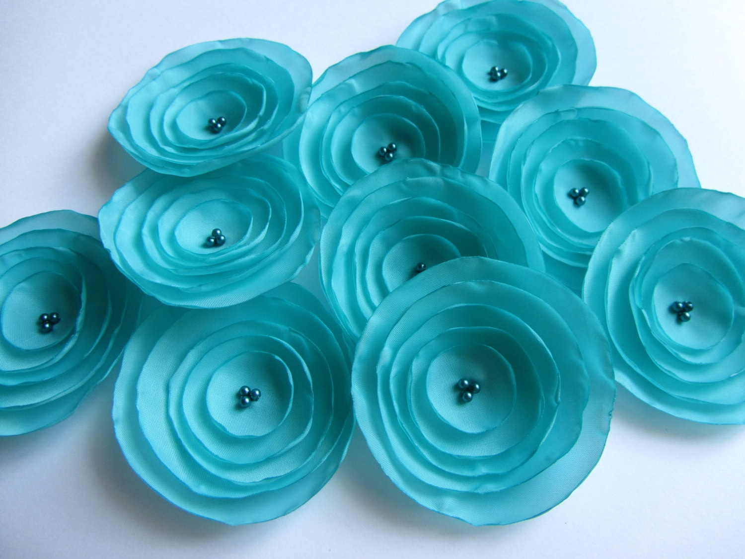 Fabric Flowers Silk Flowers Wholesale Flowers Aqua Flowers