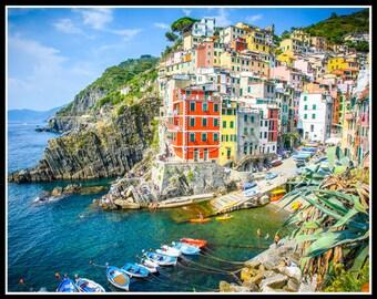 Italy Photography, Cinque Terre, Riomaggiore, Italy Wall Art , Italy Fine Art, Photos of Cinque Terre, Italy Home Decor, Beach House Decor