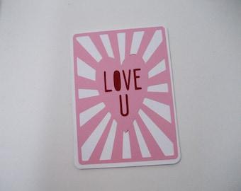 Boyfriend Card-Love Card for Him-Valentine Card-Girlfriend Card-Anniversary Card-Valentines Day Card-Love Card for Her-Engagement Card