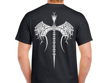 Tribal Dragon Axe Tshirt