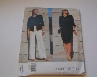 Vogue Pattern 2390 American Designer Anne Klein Miss Petite Jacket Skirt Pants