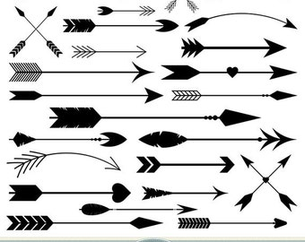 Arrows Photoshop Brushes Vector Arrow PS Tribal Aztec Native American Doodle Scrapbooking Wedding Invitations